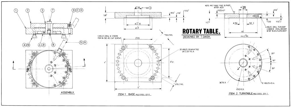 Rotary Table free plan side 1