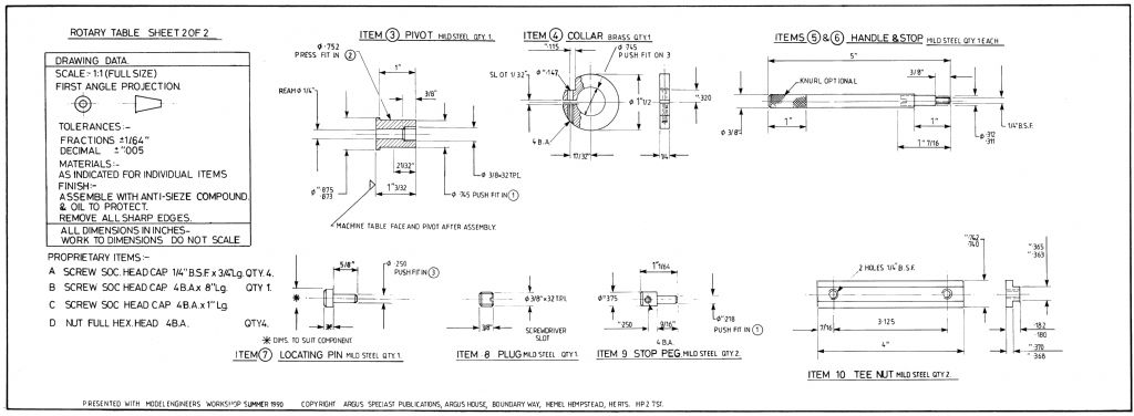 Rotary Table free plan side 2