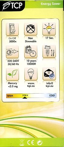 lighting Information label