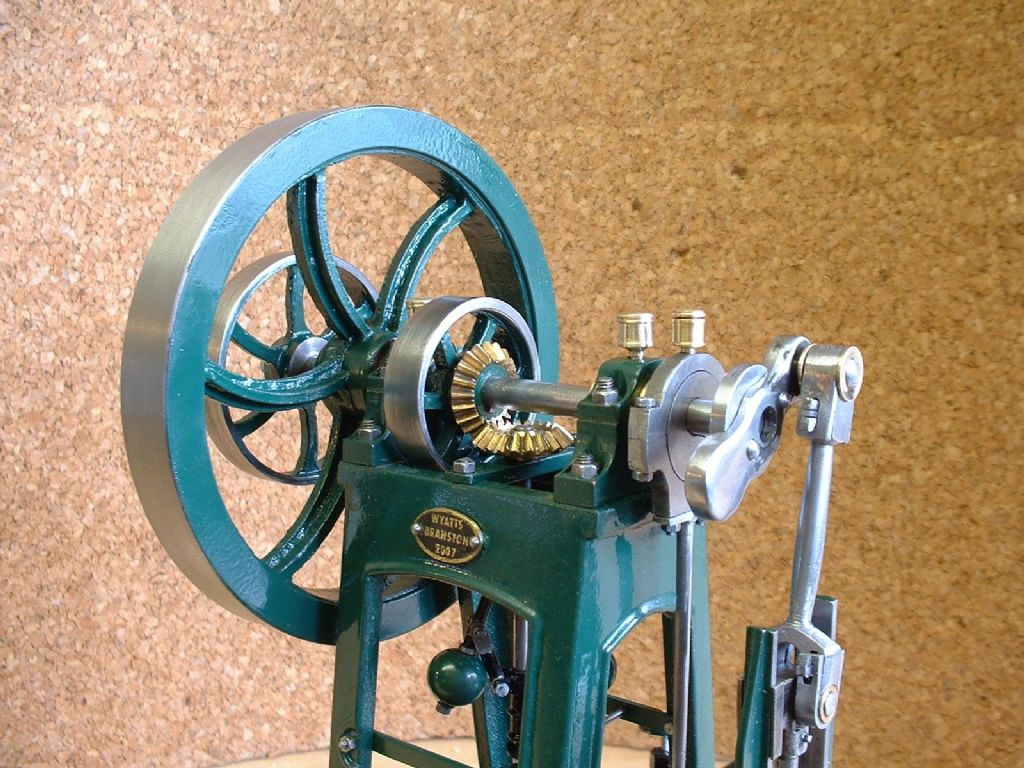 Deatil of the Norder Steam Engine model of Chadwick Vertical