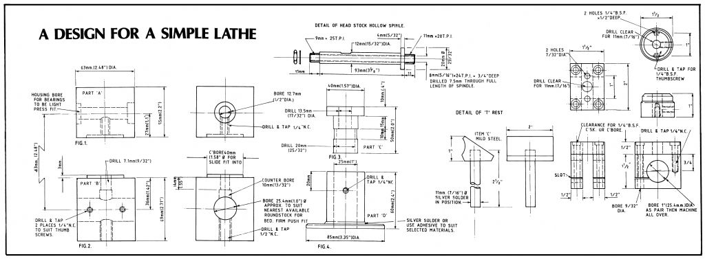 Lathe plan side A
