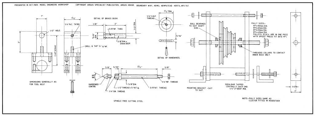 Simple lathe plan side B