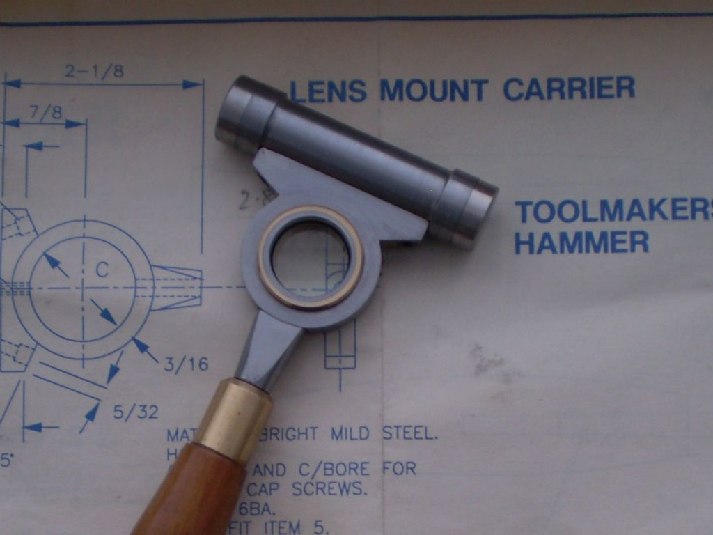 The head of Derek Speddings' Toolmaker's Hammer