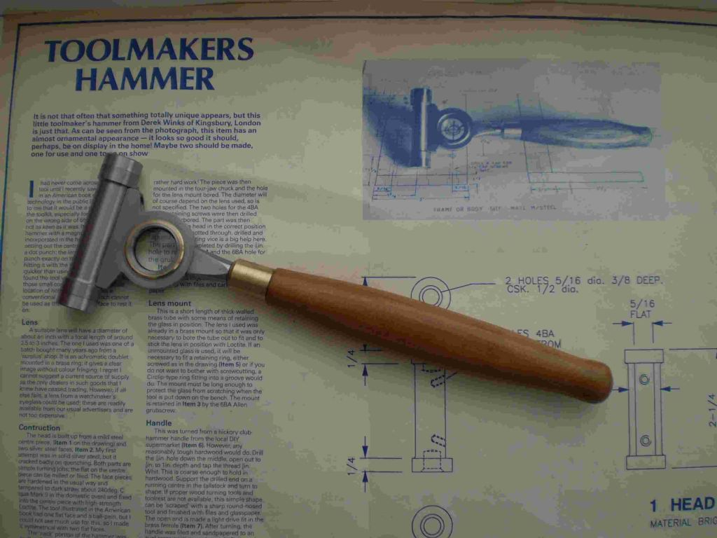 Derek Speddings Toolmakers Hammer
