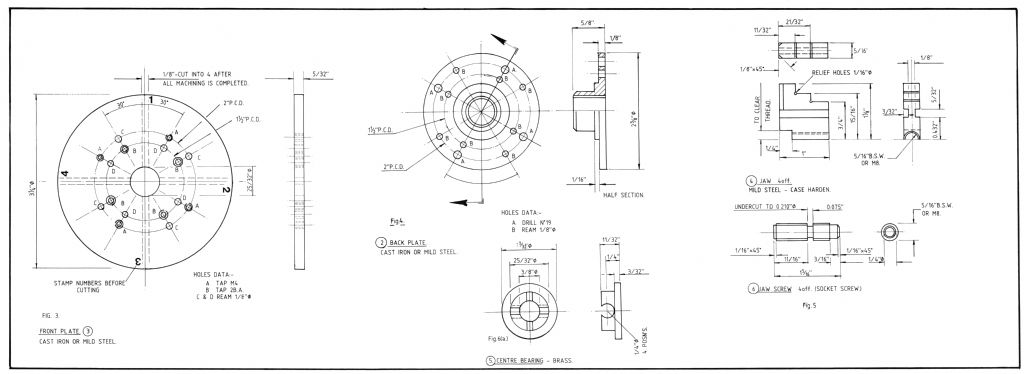 four-jaw chuck plan side two