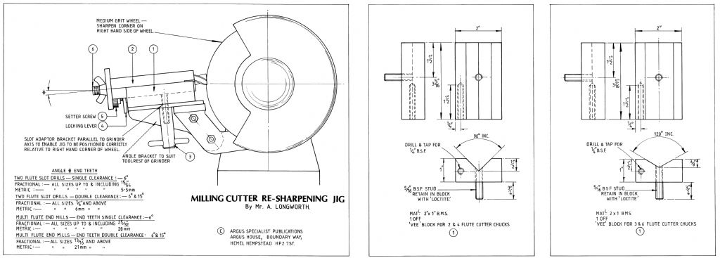 Milling Cutter Sharpening Jig plan side 1