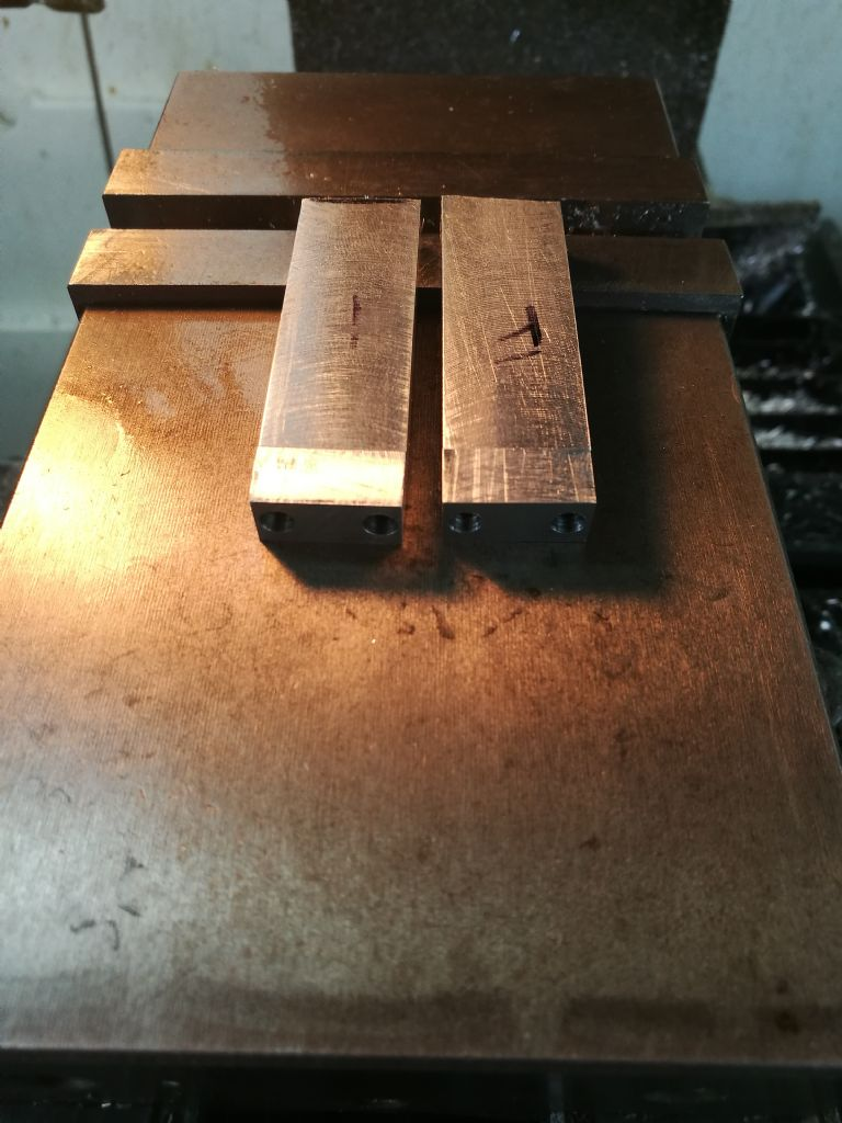 conrod blanks ready to drill bearing holes