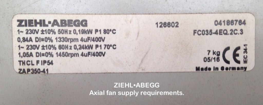 ZIEHL•ABEGG Axial Fan | Model Engineer