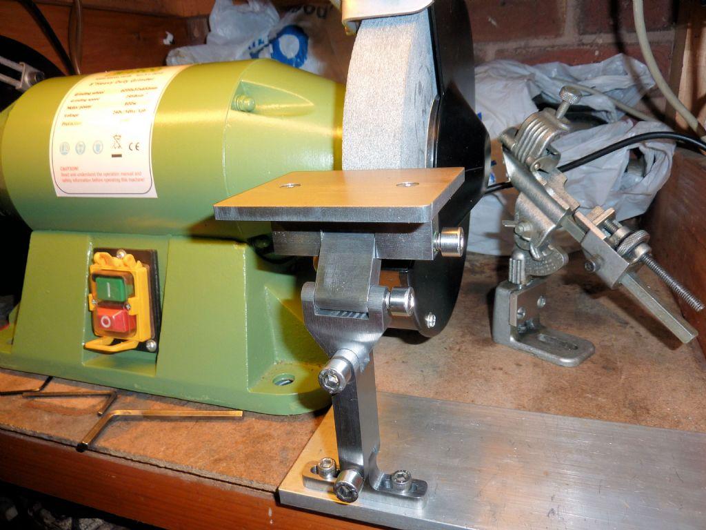 Adjustable Tool Rest For My 8 Quot Bench Grinder Model Engineer