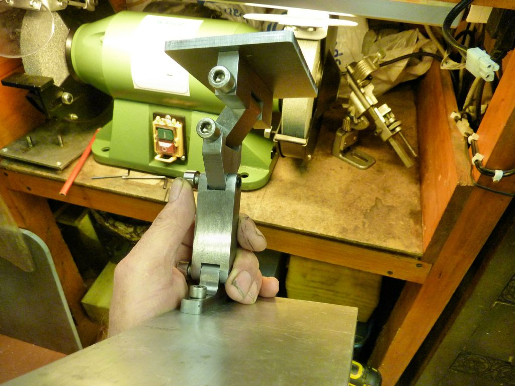 Cool Adjustable Tool Rest For My 8 Bench Grinder Model Engineer Machost Co Dining Chair Design Ideas Machostcouk
