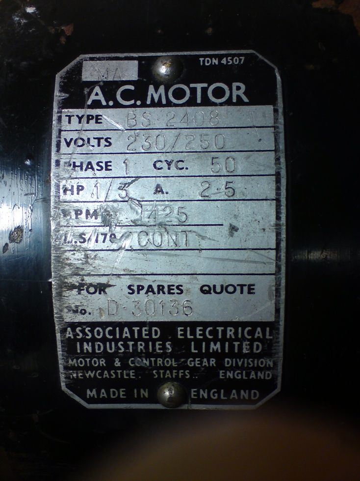 Aei motor wiring for rescued lathe model engineer nameplate cheapraybanclubmaster Images