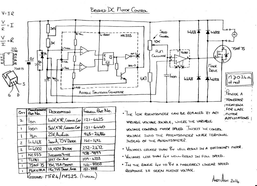 motor speed control model engineer the airflow continues to provide cooling for the transistor it turns out not to be needed the transistor doesn t even get barely warm schematic jpg