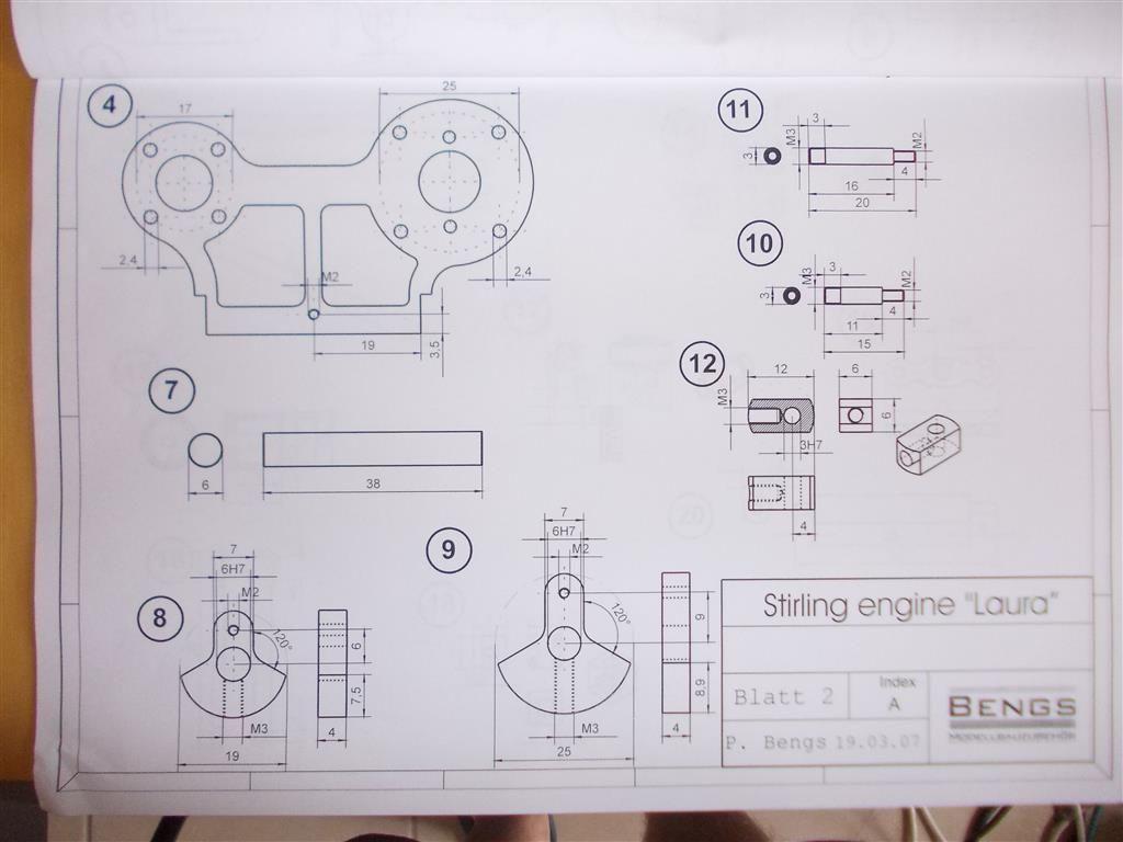 Stirling Engine Laura Model Engineer Diagram Plans 1