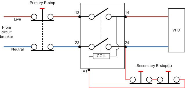 Wiring Diagram Emergency Stop Button Wiring