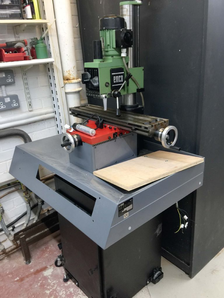 Emco Maximat FB-2 Milling Machine Attachment Spidnel Safety Cover 3D PLA Print