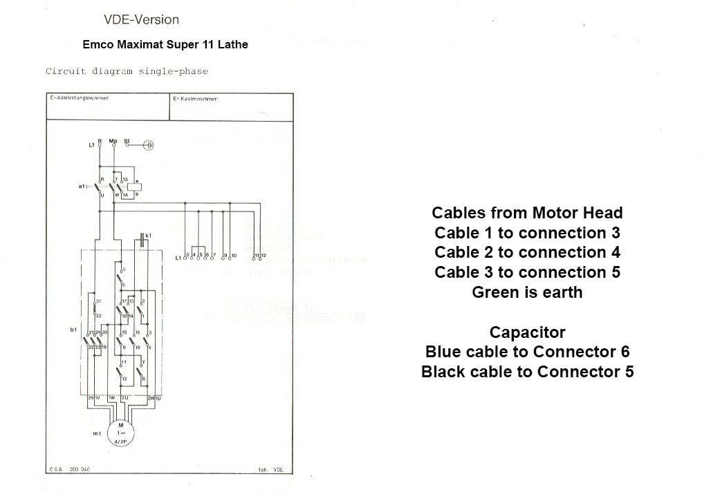 help with electrics on emco fb 2 milling head table. Black Bedroom Furniture Sets. Home Design Ideas