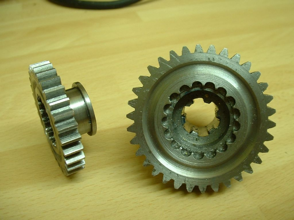 Two home-cut gears for Fordson Gearbox