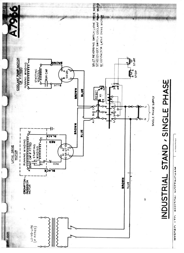 Three Phase Reversing Motor Starter Wiring Diagram 2 Speed 3 Myford Industrial Stand Model Engineer