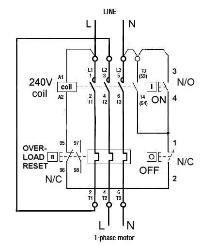 Dol Starter Wiring Single Phase Jpg