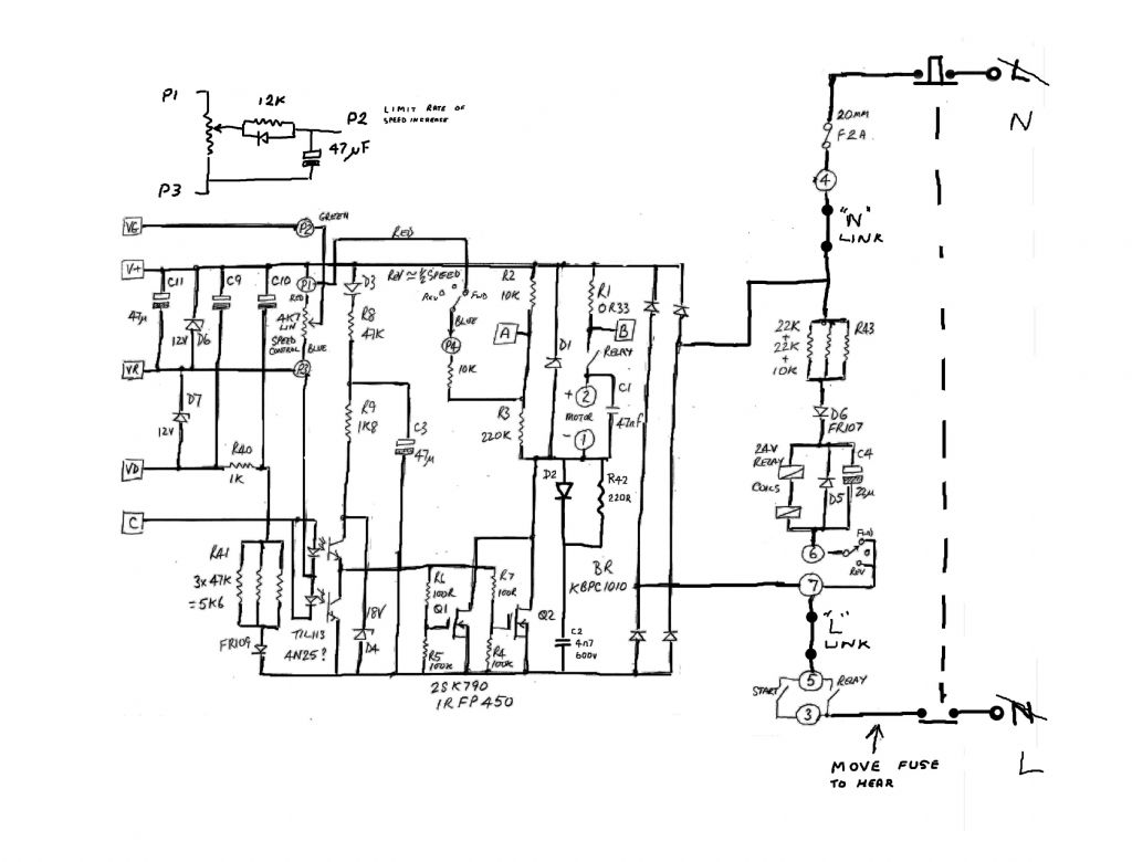 mini lathe motor controller diagram