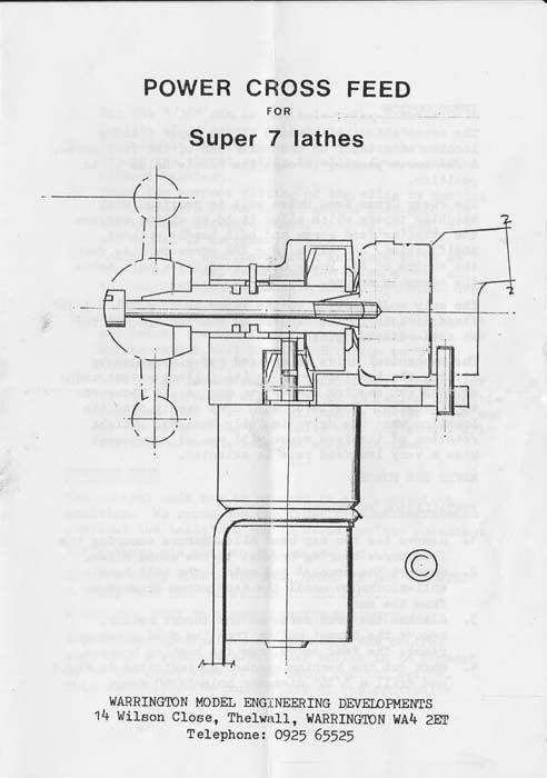 Myford Super 7 - Adding Power Cross Feed | Model Engineer