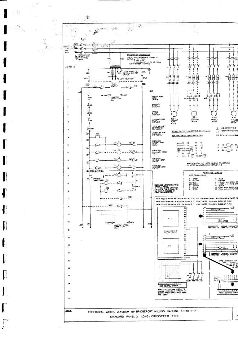 [TVPR_3874]  Bridgeport milling machine wiring diagram | Model Engineer | Bridgeport Milling Machine Wiring Diagram |  | Model Engineer Magazine