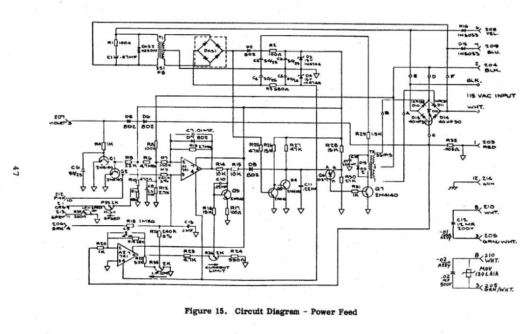 Postings on lathe electrical circuit diagram